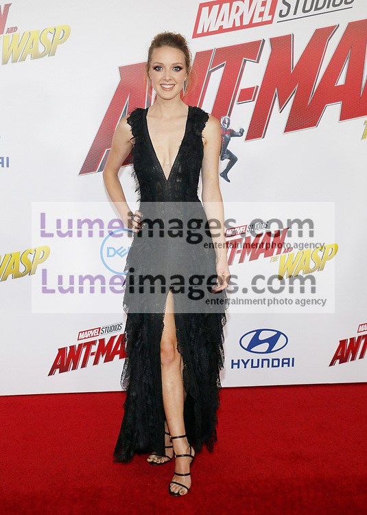 Evelyn Leigh at the Los Angeles premiere of 'Ant-Man And The Wasp' held at the El Capitan Theatre in Hollywood, USA on June 25, 2018.