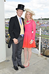 SAM TOWNEND and ALICE MACKINTOSH sister of Millie Mackintosh at the Investec Derby 2015 at Epsom Racecourse, Epsom, Surrey on 6th June 2015.