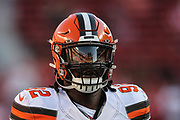 Cleveland Browns defensive end Chad Thomas (92) on the field during an NFL football game against the San Francisco 49ers, Monday, Oct. 7, 2019, in Santa Clara, Calif. The 49ers defeated the Browns (Peter Klein/Image of Sport)
