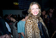 LAINEY SHERIDAN-YOUNG,  Prada Congo Art Party hosted by Miuccia Pada and Larry Gagosian. The Double Club,  Torrens St. London EC1. The Double Club is A Carsten Holler project by Fondazione Prada. 10 February 2009.