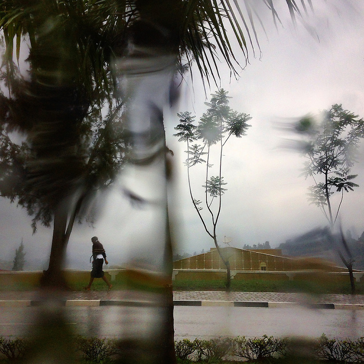 Rainy season in the Remera neighborhood of Kigali, Rwanda, on Oct. 6, 2014.