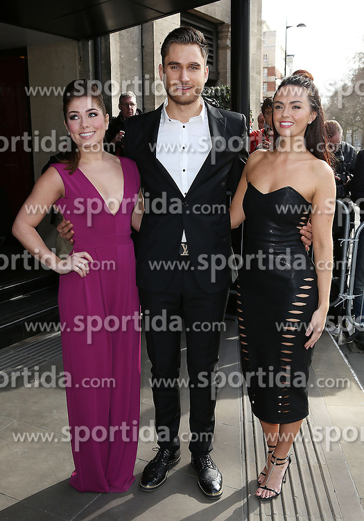 Nikki Sanderson,Charlie Clapham,Jennifer Metcalfe attends the TRIC Awards (Television and Radio Industries Club) at Grosvenor House Hotel on March 10, 2015 in London, England. EXPA Pictures &copy; 2015, PhotoCredit: EXPA/ Photoshot/ James Shaw<br /> <br /> *****ATTENTION - for AUT, SLO, CRO, SRB, BIH, MAZ only*****
