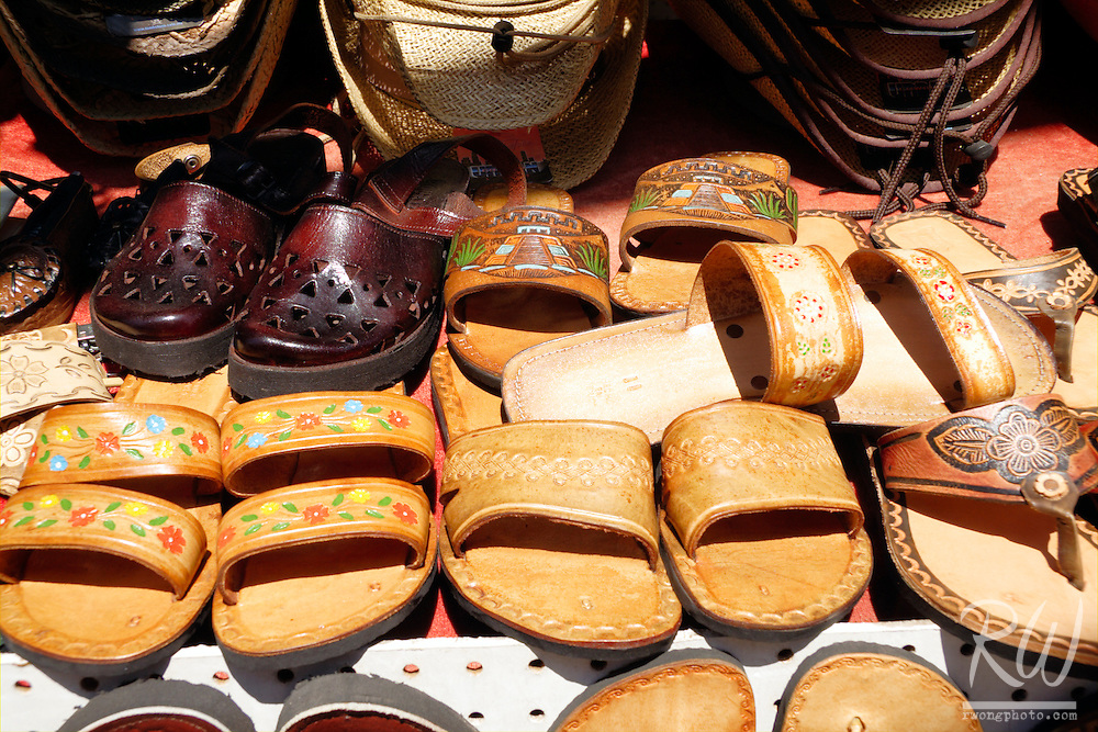 Sandals for Sale at Open Air Flea Market, Ensenada, Baja California, Mexico
