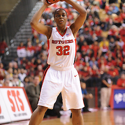 Jan 31, 2009; Piscataway, NJ, USA; Rutgers forward Brooklyn Pope (32) looks for a pass during the second half of South Florida's 59-56 victory over Rutgers in NCAA women's college basketball at the Louis Brown Athletic Center