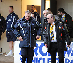 Newport County Manager John Sheridan emerges from the changing room at Rodney Parade - Mandatory by-line: Paul Knight/JMP - Mobile: 07966 386802 - 09/01/2016 -  FOOTBALL - Rodney Parade - Newport, Wales -  Newport County v Blackburn Rovers - FA Cup third round
