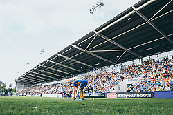Shaun Whalley of Shrewsbury Town prepares to take a corner - Mandatory by-line: Robbie Stephenson/JMP - 13/05/2018 - FOOTBALL - Montgomery Waters Meadow - Shrewsbury, England - Shrewsbury Town v Charlton Athletic - Sky Bet League One Play-Off Semi Final