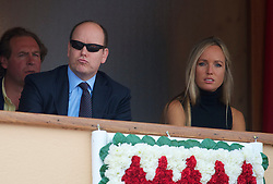 MONTE-CARLO, MONACO - Saturday, April 17, 2010: Prince Albert II, Sovereign Prince of Monaco, during the Men's Singles Semi-Final on day six of the ATP Masters Series Monte-Carlo at the Monte-Carlo Country Club. (Photo by David Rawcliffe/Propaganda)