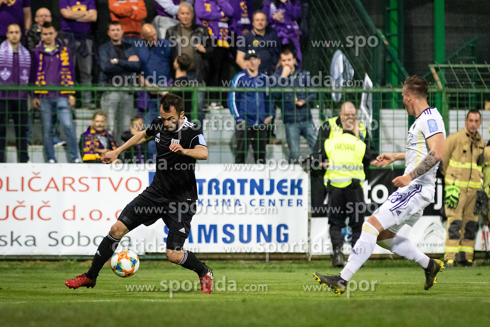 Žiga Kous of MŠ Mura and Žan Kolmanič of Maribor during football match between NŠ Mura and NK Maribor in semifinal Round of Pokal Telekom Slovenije 2018/19, on April 24, 2019 in Fazanerija, Murska Sobota, Slovenia. Photo by Blaž Weindorfer / Sportida