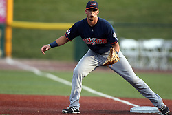 08 August 2015:  Elijah Trail during a Frontier League Baseball game between the Rockford Aviators and the Normal CornBelters at Corn Crib Stadium on the campus of Heartland Community College in Normal Illinois