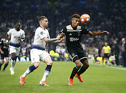 April 30, 2019 - London, England, United Kingdom - L-R Tottenham Hotspur's Kieran Tripper and David Neres of Ajax.during UEFA Championship League Semi- Final 1st Leg between Tottenham Hotspur  and Ajax at Tottenham Hotspur Stadium , London, UK on 30 Apr 2019. (Credit Image: © Action Foto Sport/NurPhoto via ZUMA Press)
