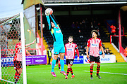 Exeter City's Robert Olejnik makes a save during the The FA Cup match between Exeter City and Port Vale at St James' Park, Exeter, England on 6 December 2015. Photo by Graham Hunt.