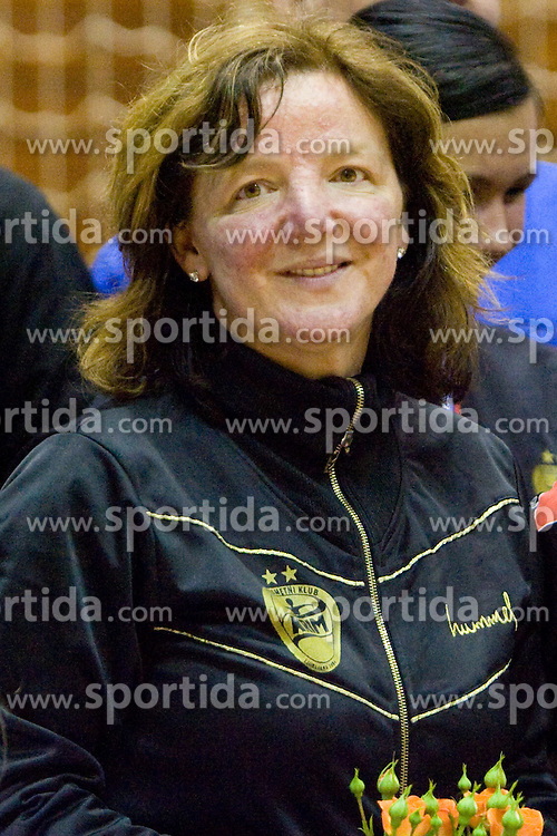 Head coach of Krim Marta Bon at last 10th Round handball match of Slovenian Women National Championships between RK Krim Mercator and RK Olimpija, on May 15, 2010, in Galjevica, Ljubljana, Slovenia. Olimpija defeated Krim 39-36, but Krim became Slovenian National Champion. (Photo by Vid Ponikvar / Sportida)