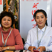The Chinese community host a 2018 UK Chinese Society Fair with variety of stores from Chinese culture,Chinese Theatre, Learning Chinese and Chinese Tea party at China Exchange, London, UK. 29 September 2018.