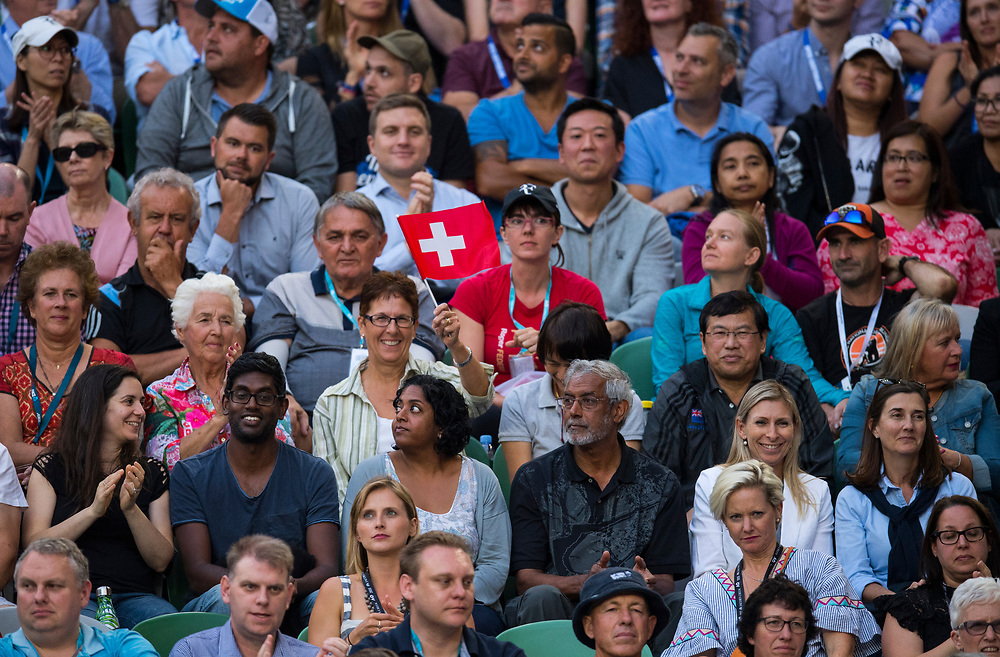 Fans on day ten of the 2018 Australian Open in Melbourne Australia on Wednesday January 24, 2018.<br /> (Ben Solomon/Tennis Australia)