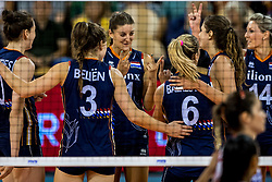 11-08-2018 NED: Rabobank Super Series Netherlands - Turkey, Eindhoven<br /> Netherlands in the final against Russia. The Dutch win the semi final in straight sets 3-0 / Anne Buijs #11 of Netherlands