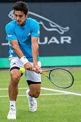 13-06-2019 NED: Libema Open, Rosmalen<br /> Grass Court Tennis Championships / Robin Haase has been eliminated in the second round of the Rosmalen grass tournament. The best Dutch tennis player, the global number 67, was defeated in two sets by the Chilean Cristian Garin. It became 7-5, 7-5 for the number 32 in the world.