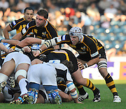 Wycombe, GREAT BRITAIN, left. Joe WORSLEY and James HASKELL,  during the Heineken Cup [Pool 1]  Rugby Match,  London Wasps vs Castres Olympique, played at Adams Park Stadium on Sun, 12.10.2008 [Photo, Peter Spurrier/Intersport-images]