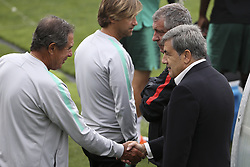September 5, 2018 - Na - Oeiras, 09/04/2018 - The National AA team trained this morning in the city of Football, in preparation for the matches with Croatia and Italy. Humberto Coelho, João Pinto, Fernando Santos and Fernando Gomes  (Credit Image: © Atlantico Press via ZUMA Wire)