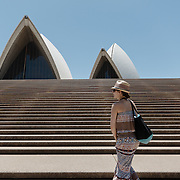 Girl watching Sydney Opera House in Sydney Bay Sydney Opera House.