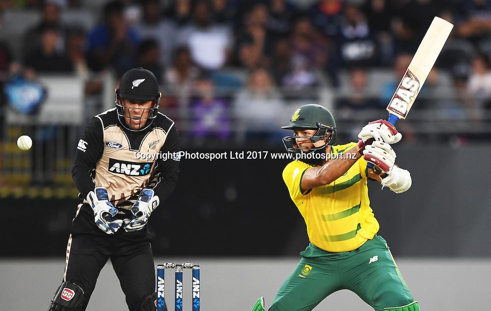 South African batsman Hashim Amla. International Twenty20 Cricket. New Zealand Black Caps v South Africa, Eden Park, Auckland, New Zealand. Friday 17 February 2017 © Copyright photo: Andrew Cornaga / www.photosport.nz