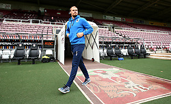 Sam Slocombe of Bristol Rovers arrives at Sixfields for the Sky Bet League One fixture with Northampton Town - Mandatory by-line: Robbie Stephenson/JMP - 07/10/2017 - FOOTBALL - Sixfields Stadium - Northampton, England - Northampton Town v Bristol Rovers - Sky Bet League One