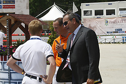 Vezzani Uliani (ITA), Ehning Marcus (GER), Thijssen Leon (NED)<br /> FEI NAtions Cup of Rome 2012<br /> © Hippo Foto - Beatrice Scudo