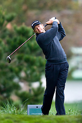 February 12, 2010; Pebble Beach, CA, USA; Retief Goosen on the second hole during the second round of the AT&T Pebble Beach Pro-Am at Pebble Beach Golf Links.