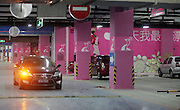 "TIANJIN, CHINA -  (CHINA OUT) <br /> <br /> ""Ladies only"" Parking Places<br /> Photo shows the ladies' parking places marked in pink in the underground parking lot of a building materials mall in Tianjin, China. Many underground parking garages in Tianjin have designed special parking places for ladies to provide convenience for them. <br /> ©ChinaFoto/Exclusivepix"