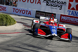 April 13, 2018 - Long Beach, California, United States of America - April 13, 2018 - Long Beach, California, USA: Matheus Leist (4) takes to the track to practice for the Toyota Grand Prix of Long Beach at Streets of Long Beach in Long Beach, California. (Credit Image: © Justin R. Noe Asp Inc/ASP via ZUMA Wire)
