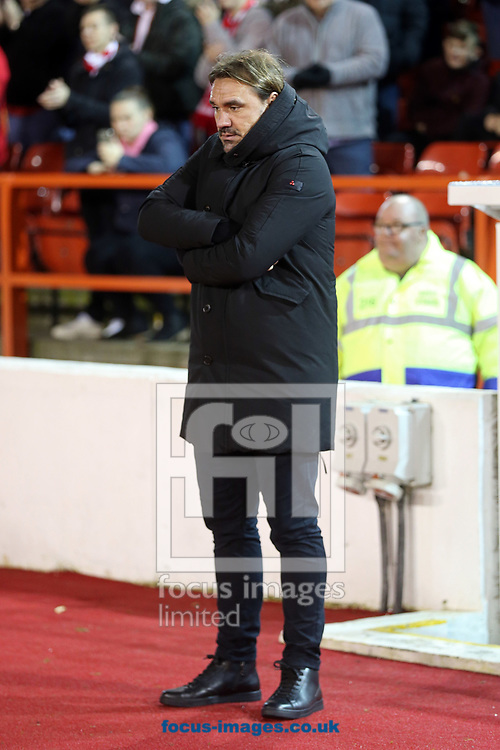 Norwich Head Coach Daniel Farke before the Sky Bet Championship match at the City Ground, Nottingham<br /> Picture by Paul Chesterton/Focus Images Ltd +44 7904 640267<br /> 21/11/2017