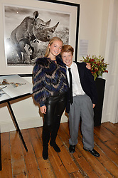 JADE YARROW & CAMERON YARROW children of David Yarrow at a private view of photographs by renowned wildlife photographer David Yarrow in aid of TUSK entitled 'Wild Encounters' held at Somerset House on 19th September 2016.