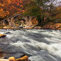 Mediaval otoman bridge deep in the forest