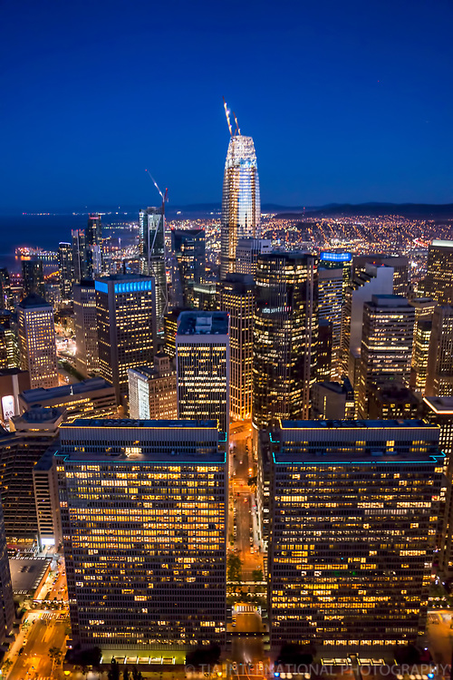 Embarcadero Center (Twin Towers) & Salesforce Tower, Downtown SF