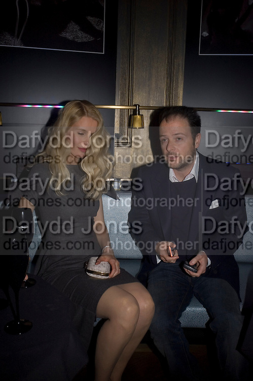 Claudia Schiffer and Matthew Vaughn, Dom Perignon and Claudia Schiffer host a celebration of Dom Perignon Oenotheque 1995. The Landau, Portland Place. London W1. 26 February 2008.  *** Local Caption *** -DO NOT ARCHIVE-© Copyright Photograph by Dafydd Jones. 248 Clapham Rd. London SW9 0PZ. Tel 0207 820 0771. www.dafjones.com.