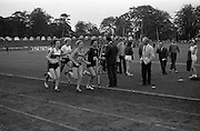 17/07/1967<br /> 07/17/1967<br /> 17 July 1967<br /> International Athletics at Santry Stadium, Dublin. A. Mckensie (49 on right) the South African record  holder, leads off in the in the start of the Ladies' 880yds International won by J. Pollock (45) of Poland and L. Lincoln (46) Great Britain who came third. Also identifiable is J. Perry (48), Great Britain.