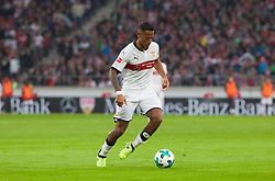 September 16, 2017 - Stuttgart, Germany - Stuttgarts Dennis Aogo initiates a counter / Bundesliga match VfB Stuttgart vs VfL Wolfsburg, September 16, 2017. (Credit Image: © Bartek Langer/NurPhoto via ZUMA Press)