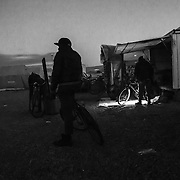 The entrance of the camp; most of the people use bicycle to move. The camp is in the industrial zone near Rosarno and Gioia Tauro where there isn't any public transport