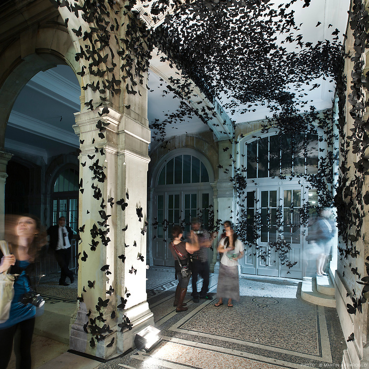 Carlos Amorales<br /> Black Cloud, 2007<br /> Installation<br /> LYC&Eacute;E JACQUES DECOUR<br /> La nouvelle Ath&egrave;nes Saint-Georges