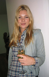 Oct 28, 2004; London, UK; Model KATE MOSS, looking a bit drunk, attending Sam Taylor Wood's private View of her art at the White Cube in London's Hoxton Square. .  (Credit Image: Big Pictures/ZUMAPRESS.com)