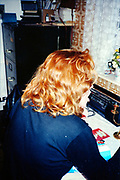 Lesley at Hawthorne Road, High Wycombe, UK, 1980s.