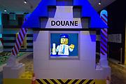 Nederland, Kerkrade, 2-2-2018In het Continium Discovery center staat een douanepost opgebouwd van Lego . Foto: Flip Franssen