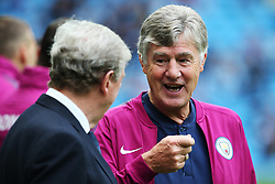 Crystal Palace manager Roy Hodgson talks with Manchester City assistant coach Brian Kidd before the match - Mandatory by-line: Matt McNulty/JMP - 23/09/2017 - FOOTBALL - Etihad Stadium - Manchester, England - Manchester City v Crystal Palace - Premier League