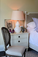A vignette from a guest bedroom designed by Kate Singer Home in the Hampton Designer Showhouse on Pauls Lane Bridgehampton, July 11, 2014.  <br /> <br /> Newsday / Audrey C. Tiernan