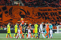 Presentation des equipes avant match / tifo supporters Lorient  - 20.12.2014 - Lorient / Nantes - 19eme journee de Ligue 1 -<br /> Photo : Vincent Michel / Icon Sport