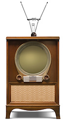 1952 console television set