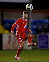RHYL, WALES - Wednesday, November 14, 2018: Wales' Dylan Levitt during the UEFA Under-19 Championship 2019 Qualifying Group 4 match between Wales and Scotland at Belle Vue. (Pic by Paul Greenwood/Propaganda)