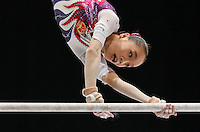 Jinnan Yao of China competes on the Uneven Bars during the women's all around final at the Artistic Gymnastics World Championships in Antwerp, Belgium, 04 October 2013.