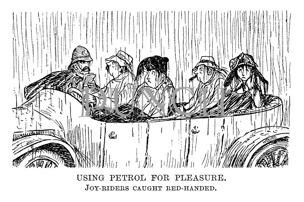 Using petrol for pleasure. Joy-riders caught red-handed.