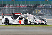 1 LMP1 Porsche Team / Porsche 919 Hybrid / Timo Bernhard / Mark Webber / Brendon Hartley during the FIA World Endurance Championship at Silverstone, Towcester, United Kingdom on 15 April 2016. Photo by Craig McAllister.