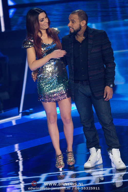 NLD/Hilversum/20131220 - Finale The Voice of Holland 2013, Jill Helena, Mitchell Brunings